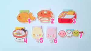 Yummy Food magnetic bookmarks