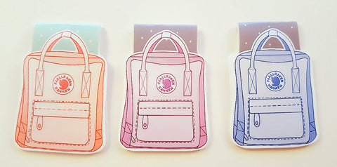Backpack magnetic bookmark
