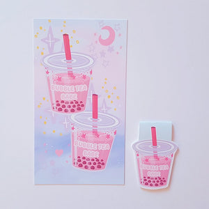 Bubbletea Babe dashboard or magnetic bookmark
