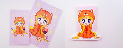 Umaru Moon dashboard or magnetic bookmark