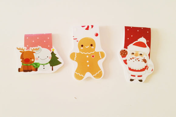 Christmas Trio magnetic bookmark set