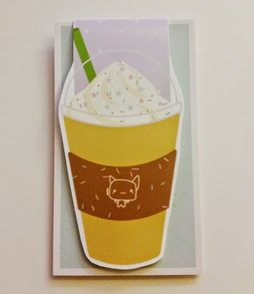 frappuccino magnetic bookmark