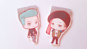 Top and Gdragon magnetic bookmark set