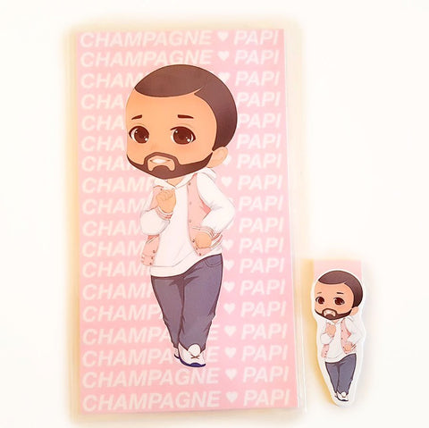 Champagne Papi planner dashboard or magnetic bookmark