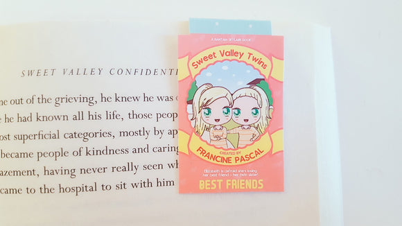 Twins book magnetic bookmark