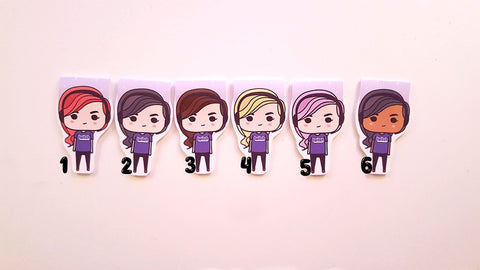 Twitch Fan girls magnetic bookmarks