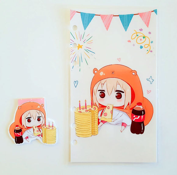 Bday Umaru dashboard or magnetic bookmark