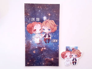Star Couple dashboard or bookmark