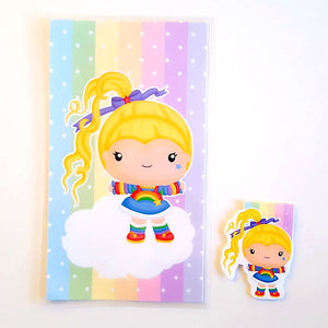 Rainbow girl planner dashboard or magnetic bookmark