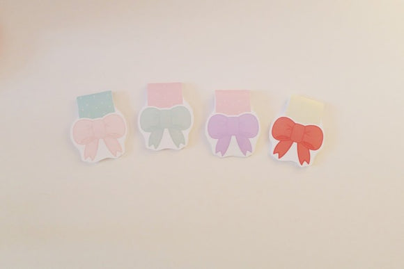 Pastel Bows magnetic bookmark
