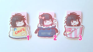 Happymail, Chips, ice cream magnetic bookmark set