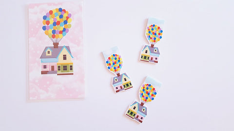 house in the sky magnetic bookmark