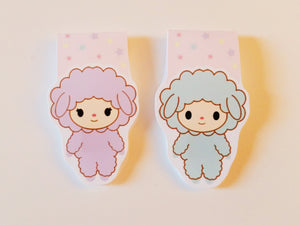 Little Twin Sheeps magnetic bookmark set