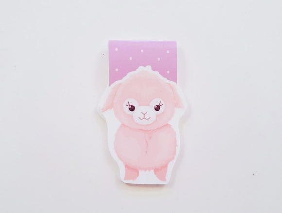 Kawaii Alpaca magnetic bookmark