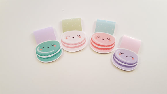 sassy macarons magnetic bookmark set