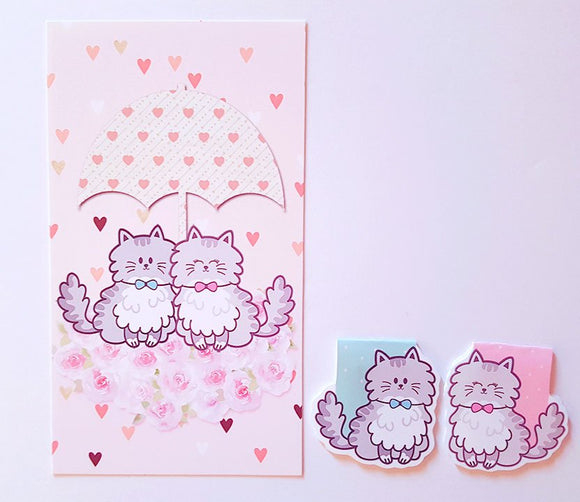 Lovecats dashboard or magnetic bookmark