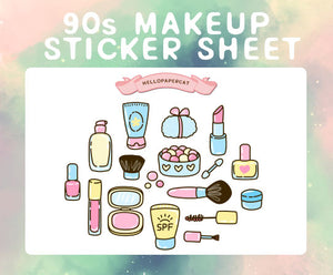90s Makeup  sticker sheet
