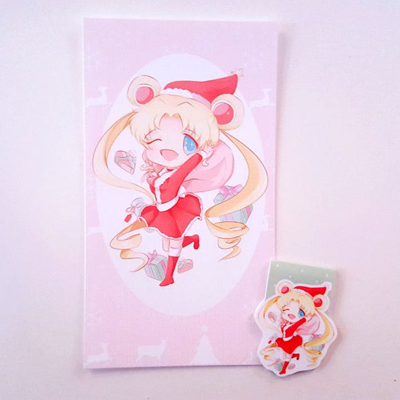 Magical Girl Christmas dashboard or bookmark