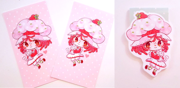 Strawberry girl dashboard or bookmark