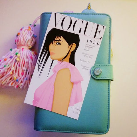 Vogue Model inspired planner dashboard