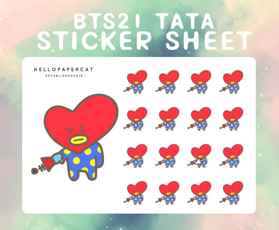 BT21 Tata sticker sheet