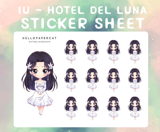 IU Hotel Del Luna sticker sheet