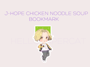 J-Hope chicken noodle soup magnetic bookmark