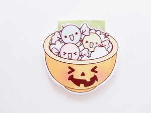 Halloween candy dish magnetic bookmark