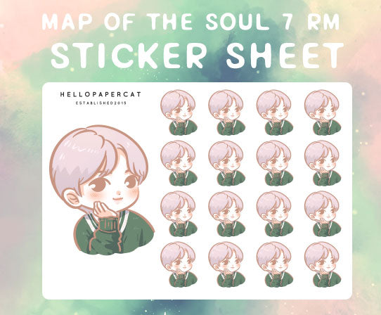 BTS map of the soul 7 RM sticker sheet
