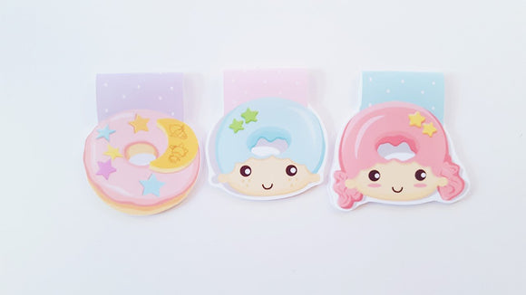 star children donut magnetic bookmark set