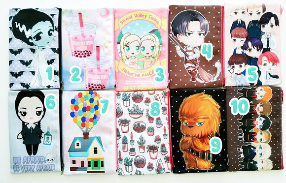 Kawaii zip pouches