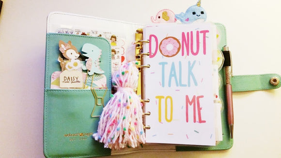 Donut Talk to Me Planner dashboard