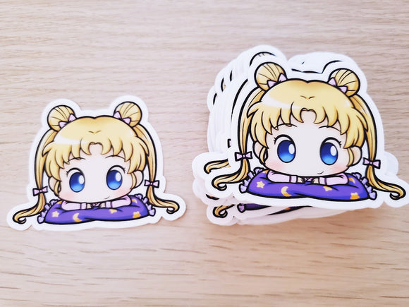 Sleepy Usagi Vinyl Sticker