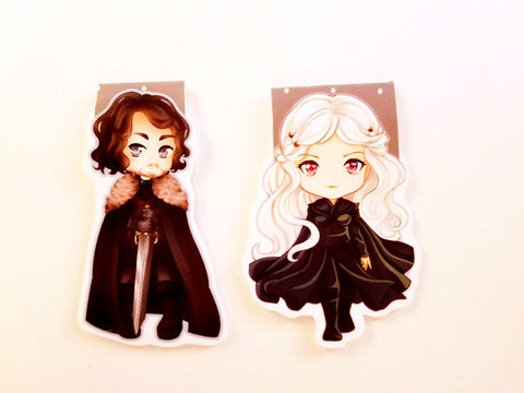 Jon Snow or Daenerys magnetic bookmark