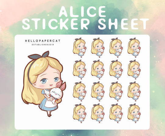 Alice sticker sheet
