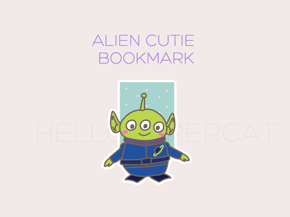 Alien Cutie magnetic bookmark