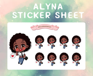 Alyna sticker sheet
