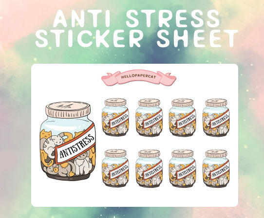 Anti Stress  sticker sheet