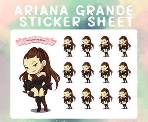 Ariana Grande sticker sheet