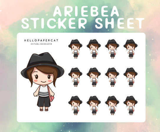 Ariebea sticker sheet