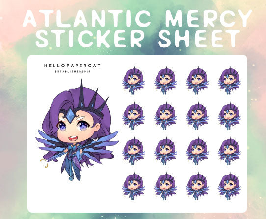 Atlantic Mercy sticker sheet