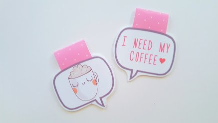 I need my coffee magnetic bookmark