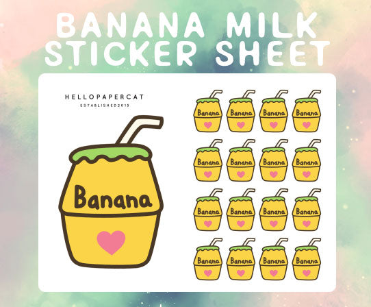 Banana Milk sticker sheet