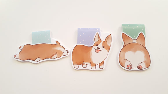 potato corgi magnetic bookmark set
