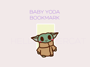 Bby Yoda magnetic bookmark