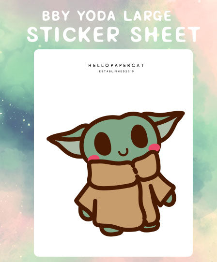 Bby Yoda Large deco sticker sheet