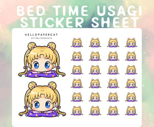 Bedtime Usagi sticker sheet