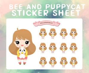 Bee and Puppycat sticker sheet