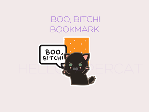 Boo, Bitch! magnetic bookmark