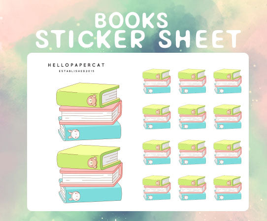 Books sticker sheet